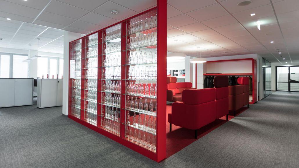 Bürokonzept Coca Cola Österreich